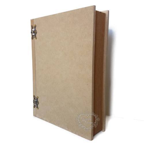 Caixa Livro M Dobradiça Borboleta - 26 x 18,5 x5 altura