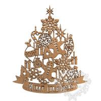 Árvore Natal Cookies, Ginger, Merry - G..