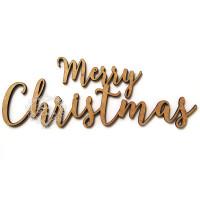 Aplique Merry Christmas - em MDF 3mm..