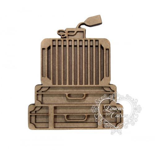 Shaker Box Malas Empilhadas - 10x8cm