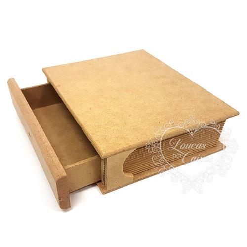 Caixa Livro Gaveta P 16x18,5x5 cm