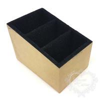 Caixa Flocada Porta Controle com 3 divis..