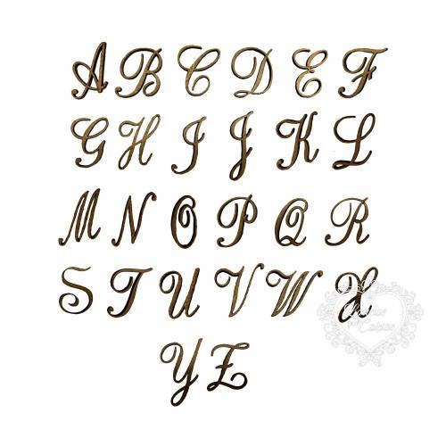 Alfabeto Cursivo Maiúsculo - XG