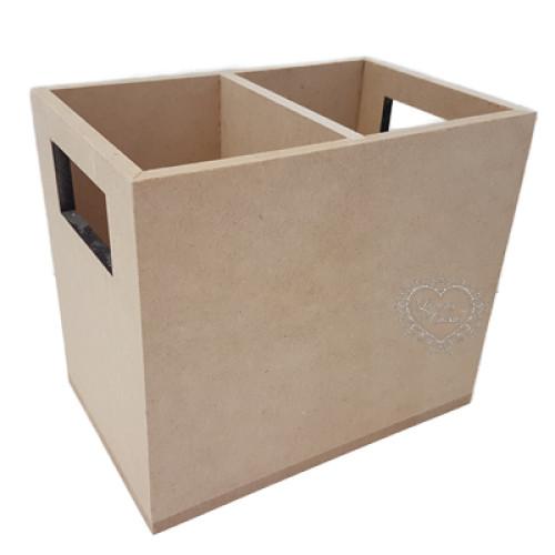 Caixote Porta Talher c/ 2 Divisórias 17x11x14.5 cm