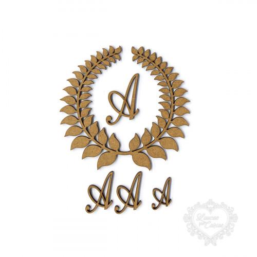 Coroa De Louros Letras Não Inclusas - P