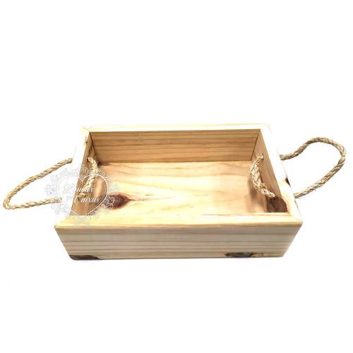 Caixa Porta Canecas Com Alças 30 x 20 x 10 cm
