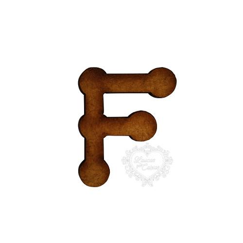 Letra em MDF - 1,5 cm  Keramik - F