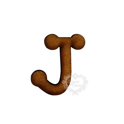 Letra em MDF - 1,5 cm  Keramik - J