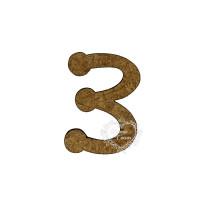 Número em MDF - 1,5 cm  Keramik - Três..