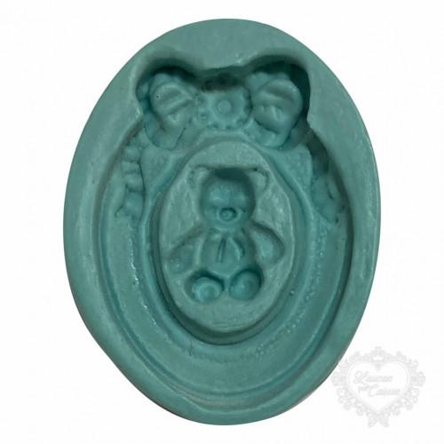 Molde de Silicone - Moldura Urso
