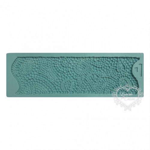 Molde de Silicone - Textura Barrado de Pérolas