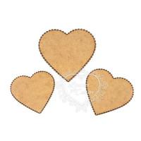 Kit de Placas Corações - Bordado Inglês ..