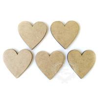 Kit 5 corações de 5cm - em MDF ..