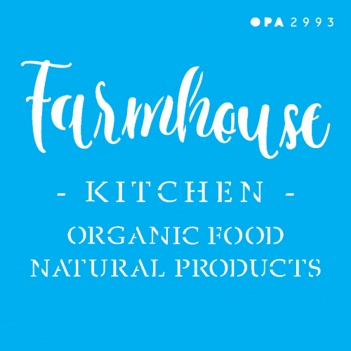 Stencil Farmhouse Kitchen - 10x10