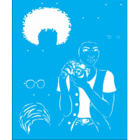 Stencil Afro Mulher - 32x42..