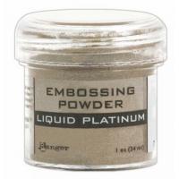 Pó para embossing Liquid Platinum..