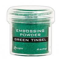 Pó para embossing Green Tinsel (com glit..