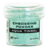 Pó para embossing Aqua Tinsel (com glitt..