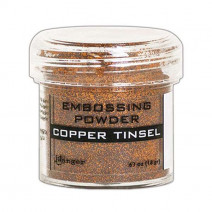 Pó para embossing Copper Tinsel (com glitter)...