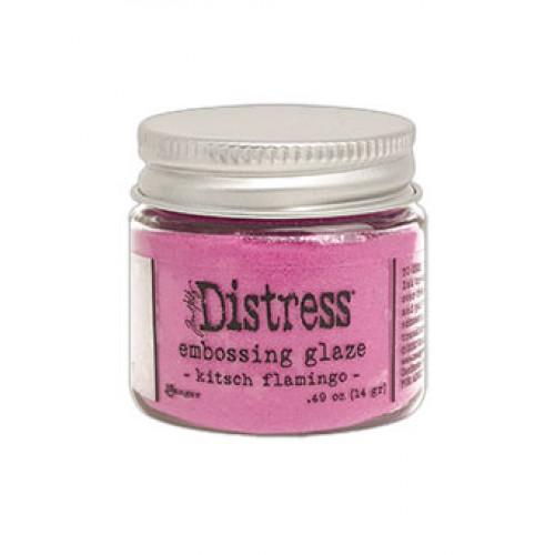 Pó para embossing Distress Glaze - Kitsch Flamingo