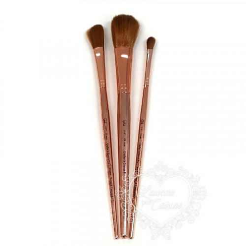 Kit Crafters Choice Pro Rose Gold 3 pinceis Mop