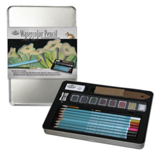 Lata Media com Lápis Aquarelaveis Royal & Langnickel - 21 peças