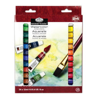 Kit de Tinta Aquarela com 24 Tubos Royal..