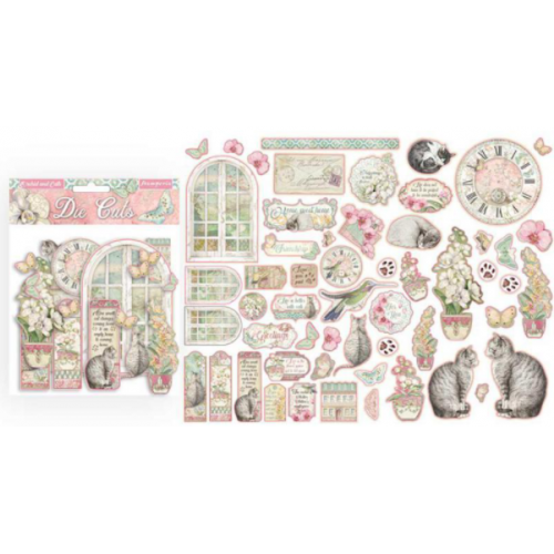 Die Cuts - Orchid and Cats