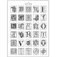 Molde de Plástico Alphabet - alfabeto..