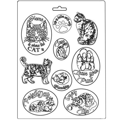 Molde de Plástico gatos, Cats, Orchids & Cats