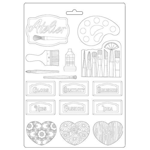 Molde de Plástico - Pincéis e Placas - Atelier