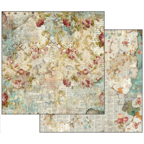 Papel Time Is An Illusion Floral Texture Stamperia
