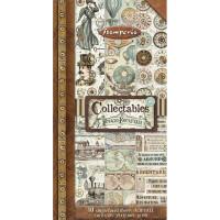 Bloco Collectables com 10 papéis Stamper..