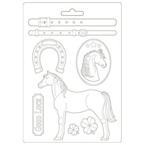 Molde de Plástico - Soft Mould A4 Romantic Horses
