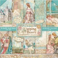 Bloco com 10 papéis Stamperia 30.5 x 30,5 Sleeping Beauty