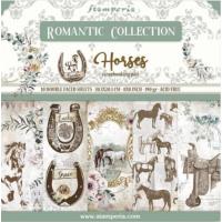 Bloco com 10 papéis Stamperia 30.5 x 30,5 Romantic Horses