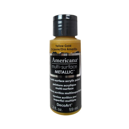 Tinta Multi-surface Americana Metálica yelow gold