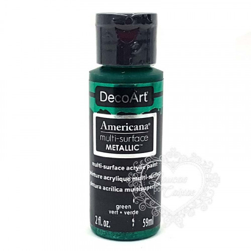 Tinta Decoart Americana Multi-Surface Metalica Green