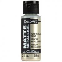 Tinta Decoart Matte Metallics - Ivory Pe..