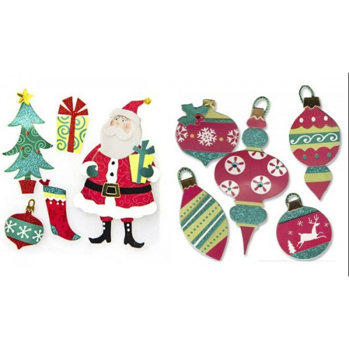 Adesivo Papai Noel e Enfeites