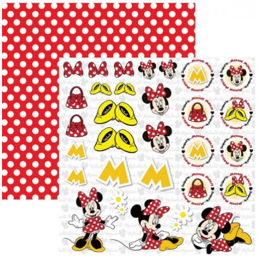 Papel para scrap df minnie mouse 2 recortes