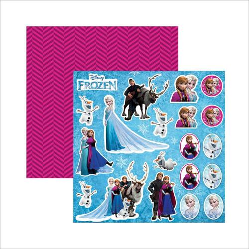 Papel 180g Dupla Face Frozen 03 - 30.5 x 30.5