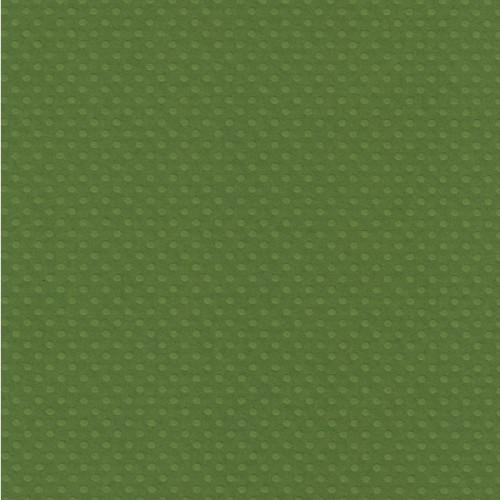 Papel  Scrap Cardstock Bolinhas Ii Verde Capim 30,5X30,5 Cm