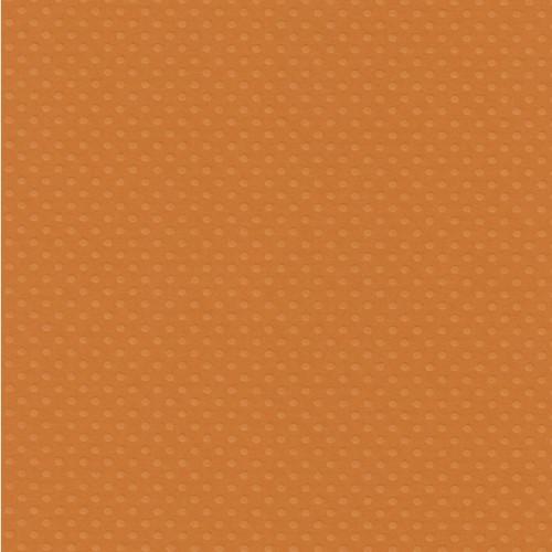 Papel  Scrap Cardstock Bolinhas Ii Laranja 30,5X30,5 Cm