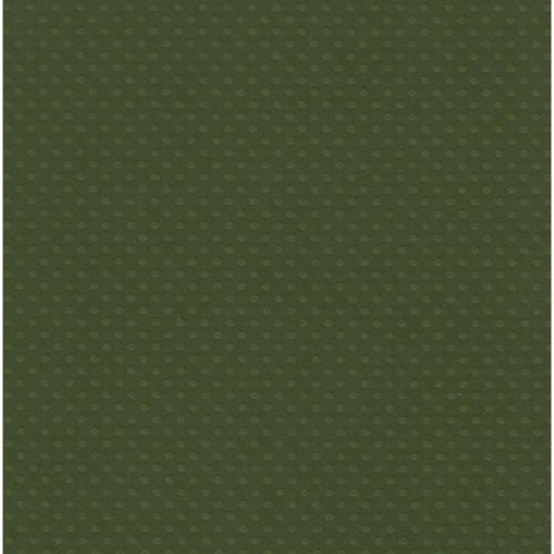 Papel  Scrap Cardstock Bolinhas Ii Verde Mata 30,5X30,5 Cm