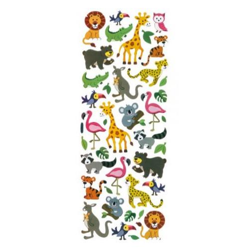 Adesivo vibrante zoologico