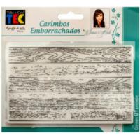 Carimbo emborrachado 10x15 cm - Madeira..