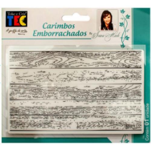 Carimbo emborrachado 10x15 cm - Madeira