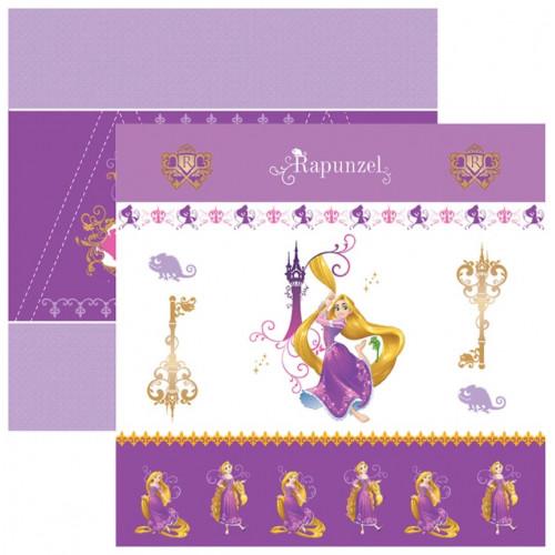 Papel para Scrap Dupla Face Rapunzel 1 Cenário e Bandeirolas