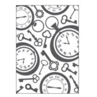 Placa para Relevo 2D - Relógio Vintage I..